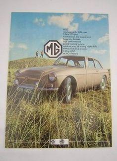 MGC Original Vintage Advert from 1968 - MG