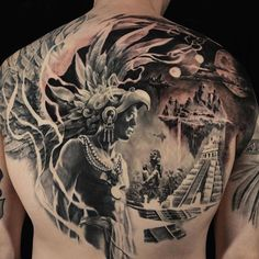 Awesome depths achieved in this back piece by @CarlosTorresArt! #WIP #blackandgrey #backpiece #SullenTV #sullenclothing #TogetherWeRise #sullen #tattooartist #tattoo #ink #art #artdriven #tattoooftheday #inked #bodyart