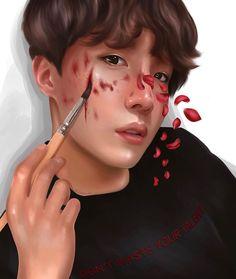 Oh my hearteu Jhope, Taehyung, Hoseok Bts, Bts Halloween, Bts Drawings, Bts Chibi, Bts Fans, Bts J Hope, Kpop Fanart