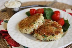 crab cakes - Just enjoyed these for dinner (w/o the sauce) and they were delicious!