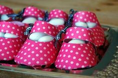 Baby shower party favors (boy and girl shoe templates).