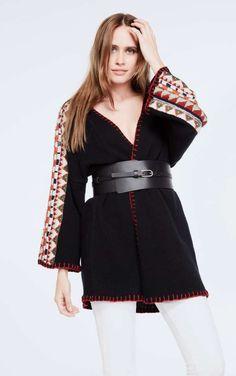 black bohemian vest #fw16 #fashion #colours #boho