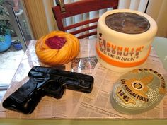 "The ""Cop Cake"".  Yes, it's all cake.  I love this lady! She's genius!!!"