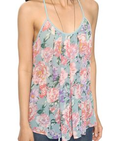 Pleated Sheer Floral Top | FOREVER21 - 2000043528