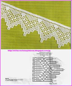 Luty Artes Crochet: Barrados com gfáficos border edging Crochet Boarders, Crochet Edging Patterns, Crochet Lace Edging, Crochet Motifs, Crochet Diagram, Lace Patterns, Thread Crochet, Crochet Trim, Crochet Doilies