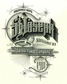 Insurance Maps of St Joseph, Missouri (volume one) published by the Sanborn Map Company 1911
