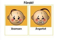 Mariaslekrum - Illustrerade känslor. Learn Swedish, Swedish Language, Autism Spectrum, Bingo, Motivation, Education, Learning, Character, Tips