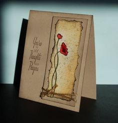 handmade card:Twined Thoughts by mamaxsix ... kraft card ... like the clean design ...                                                                                                                                                                                 More