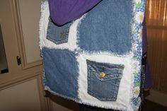 Recycled Denim Jean Tote Bag. $18.00, via Etsy.
