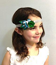 Tulane Green Wave Spirit Headband by FaisDoDoBoutique on Etsy