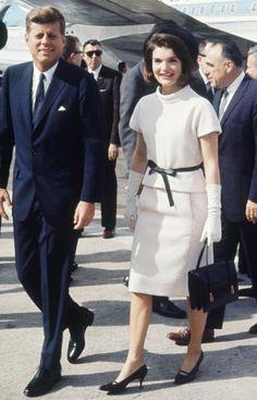 Jackie Kennedy and John F. Kennedy in San Antonio, Texas.