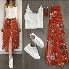 Korean Fashion Tips .Korean Fashion Tips Mode Outfits, Skirt Outfits, Chic Outfits, Spring Outfits, Trendy Outfits, Look Fashion, Skirt Fashion, Korean Fashion, Fashion Dresses