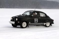 Saab 96 Bullnose in the Snow