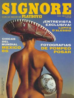 Playboy (Mexico) June 1986 with Luiza Brunet on the cover of the magazine