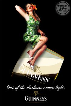 Guinness Inspired Poster Advertisement -Client Commissioned -Photo credit Vintage Girl Studios