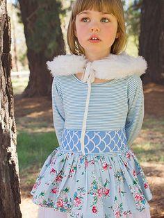 Ella Blue Painted Floral Dress - Oobi.com.au Boho Flower Girl, Fashion Kids, Harajuku, Bohemian, Ivy, Floral, Clothes, Collection, Dresses