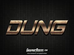 Action style – Dung (free photoshop layer style, text effect, free psd file) #graphicriders Shops, Free Photoshop, Layer Style, Chevrolet Logo, Logos, Art, Art Background, Tents, Logo