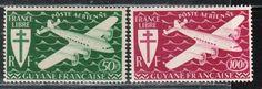 French Guyane 1945 Guiana Stamps AIR Full SET Mint Scott C9 10   eBay