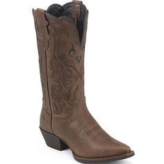 Women's Mustang Western Justin Boots from Bootbay, Internet's Best Selection of Work, Outdoor, Western Boots and Shoes. Western Boots, Cowboy Boots, Justin Boots, Mustang, Dark Brown, Westerns, Fashion Shoes, Pairs, Leather