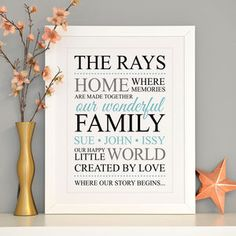 Brighten up your home with one of our unique family and home gifts. From colourful artwork to personalised prints, you'll find something to suit every interior. Personalised Prints, Personalized Baby Blankets, Colorful Artwork, Word Art, Home Gifts, Clear Acrylic, Unique Gifts, Home And Family, Typography