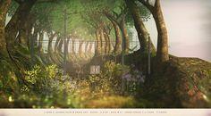 https://flic.kr/p/WtpSMn | [ keke ] garden gate & fence set  |  Out now @ [ keke ]  Chose between four colours: black, white, green and gold   ★ click to [ keke ] ★