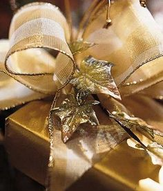 Lovely, gold wrapped present.
