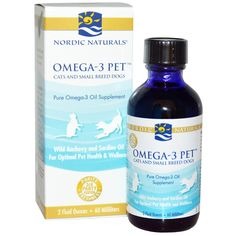Nordic Naturals, Omega-3 Pet, Cats and Small Breed Dogs, 2 fl oz (60 ml) - iHerb.com