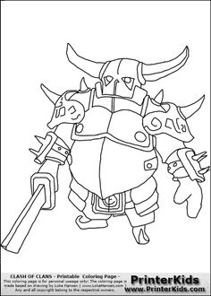 Clash Of Clans - P.E.K.K.A #1 - Coloring Page