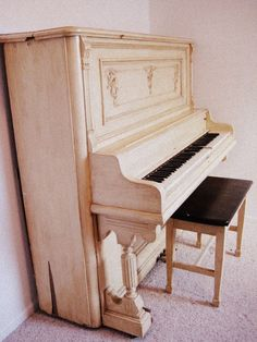 Vintage Shabby Chic Piano