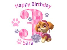 Pink paw patrol for girl birthday T-shirt or onesie by DesignsByBeckyS on Etsy