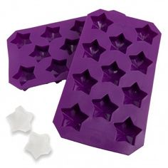 2 Star Shaped Silicone Ice Cube Trays – Fun Food Safe Molds