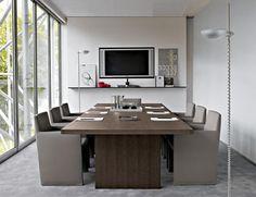 Boardroom table / contemporary / solid wood / indoor AC  B&B Italia