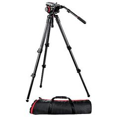Manfrotto 504HD Head with 535 3-Stage Carbon Fiber Tripod Kit