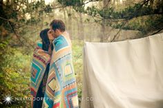 Adam & Staci's camping themed engagement photography - at Pioneers Park, Lincoln Nebraska