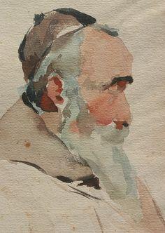 John Singer Sargent ~ Watercolour Detail ~ Photograph by John Lloyd Lovell ~ via mahala