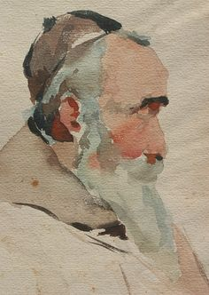 John Singer Sargent ~ Watercolour Detail ~ Photograph by John Lloyd Lovell ~ via mahala