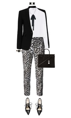 """Black Blazer"" by ittie-kittie ❤ liked on Polyvore featuring rag & bone, MANGO, Alberto Biani, 3.1 Phillip Lim, Yves Saint Laurent, Anne Klein and blazer"