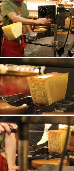 raclette in verbier, switzerland
