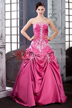 US$239.99 Applique Floor-length Strapless Polina's Quinceanera Ball Gown Dress. #Vintage #Gown #Floor-length #Dress