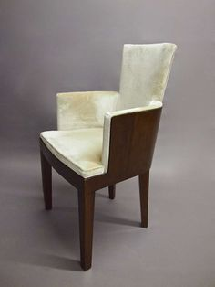 Pair of Chairs Vintage French Deco after Dominique Circa 1930 France | From a unique collection of antique and modern armchairs at https://www.1stdibs.com/furniture/seating/armchairs/