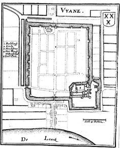Vyane (plattegrond) 1659 - Collectie Gevangenismuseum