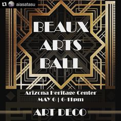 "#Repost from Architecture student organization @aiasatasu  The annual Beaux Arts Ball is this Saturday May 6th. 6:00pm at Arizona Heritage Center. Come join the end of semester celebration. There will be music dance and an exhibition for everyone to enjoy.  We also have a theme of ""Art Deco"" and everyone is encouraged to dressed up however you like for the theme! It is open for all students faculties and professionals.  Tickets are available in person from an AIAS board member or on the…"