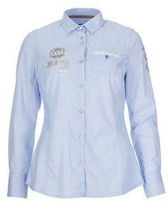 L'Argentina pale blue shirt with sequin details