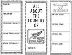 This two-sided tri-fold New Zealand brochure template allows students to dig deeper into facts about the country. There's plenty of room for creativity with space to draw national symbols and landmarks. An interactive notebook pocket has been provided.