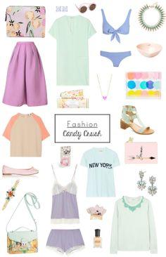 #pastel fashion // candy crush