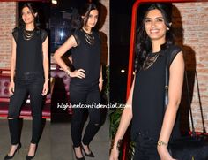 We're taking a cue from this all black Diana Penty style! The look is super chic…