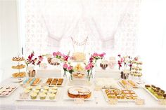 cake bunting by kiki la ru on etsy--but!  I am repinning also for the beautiful approach to preparing a dessert buffet!