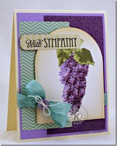 Sympathy Lilacs by Tammy Hershberger using Multi Step Lilcas from Kitchen Sink Stamps.