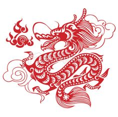 Vector illustration of a red paper cut Chinese Dragon, with a hint of ethnic aesthetic influence and great details. This dragon is not only great for your upcoming Chinese New Year project. Chinese Dragon Art, Dragon China, Dragon Makeup, Red Dragon Tattoo, Chinese Paper Cutting, Dragon Illustration, Unicorn Pictures, Printable Calendar Template, Kids Calendar