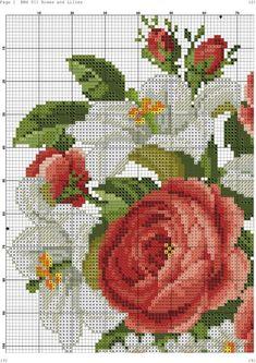 esquema de ramo de rosas